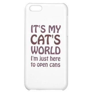 Su mi mundo de los gatos - apenas abro las latas