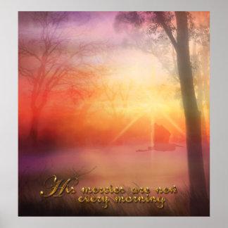 Su misericordia es nueva cada mañana posters