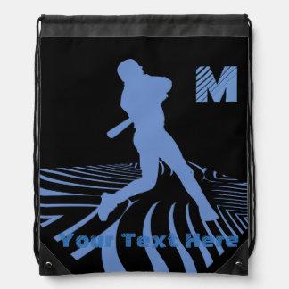 Su mochila azul fresca de encargo del lazo del