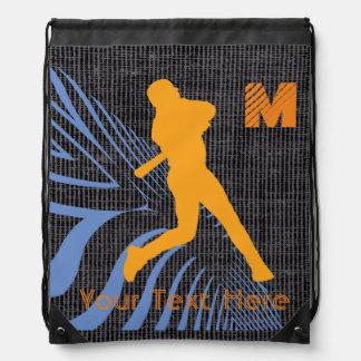 Su mochila de encargo del lazo del béisbol
