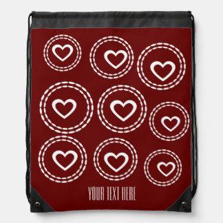 Su mochila roja romántica de encargo del lazo