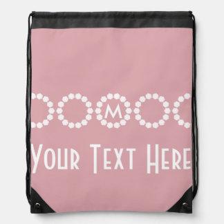 Su mochila rosada divina de encargo del lazo