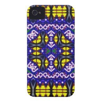 Su modelo simétrico amarillo púrpura complicado Case-Mate iPhone 4 protectores
