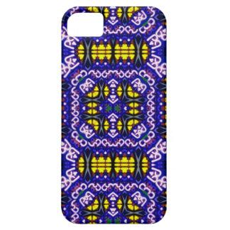 Su modelo simétrico amarillo púrpura complicado iPhone 5 carcasas