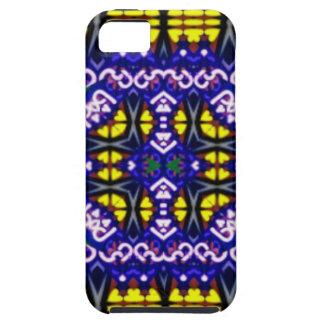 Su modelo simétrico amarillo púrpura complicado iPhone 5 fundas