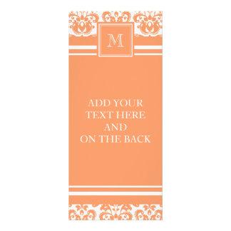 Su monograma, producto anaranjado del modelo 2     tarjeta publicitaria