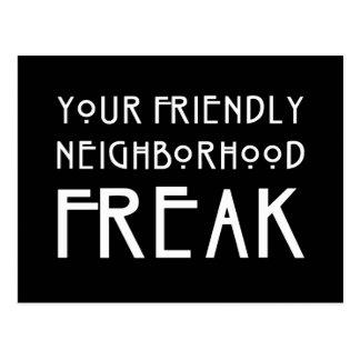 Su monstruo amistoso de la vecindad tarjetas postales