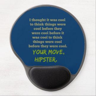 Su movimiento, Hipster. Alfombrilla De Ratón Con Gel