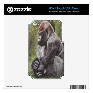 ¡Su mundo frágil! iPod Touch 4G Calcomanías
