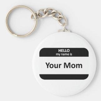 Su Nametag de la mamá Llavero Personalizado