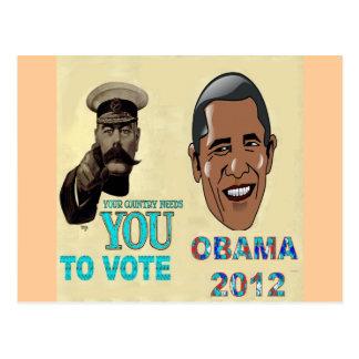 Su necesidad del país usted de votar a OBAMA 2012 Tarjetas Postales