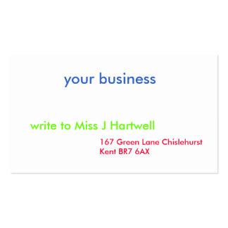 su negocio, 167 carril verde Chislehurst Kent… Tarjetas De Visita