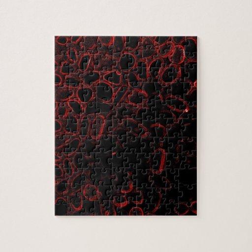 Su neón apenas similar (rojo) puzzle