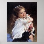 Su niña del mejor amigo el | con el gatito impresiones