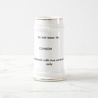 Su no cerveza su: , C2H5OH, advirtiendo: para el Jarra De Cerveza