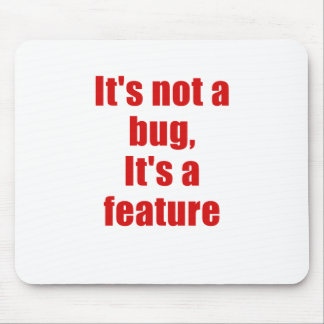 Su no un insecto su una característica alfombrillas de ratones