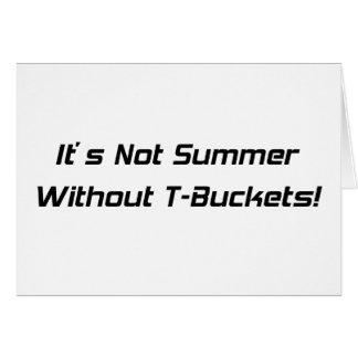 Su no verano sin los regalos de Tbuckets Tbucket p Tarjeta De Felicitación