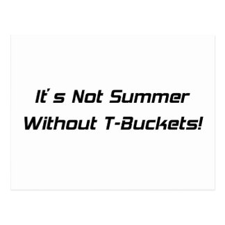 Su no verano sin los regalos de Tbuckets Tbucket Postal