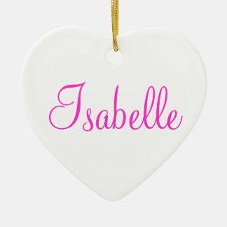 Su nombre aquí adorno navideño de cerámica en forma de corazón