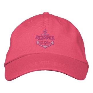 Su nombre en capitán náutico del bordado del ancla gorras de beisbol bordadas