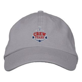 Su nombre en el bordado náutico del ancla para el gorras bordadas