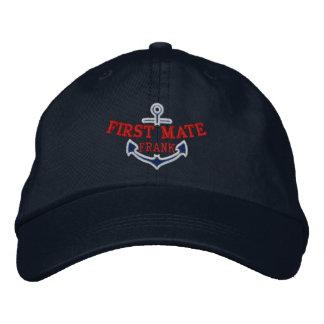 Su nombre en el primer compañero del bordado gorras de béisbol bordadas