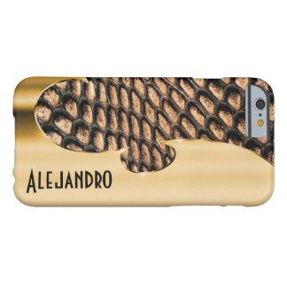 Su nombre en este falsos oro y snakeskin funda para iPhone 6 barely there