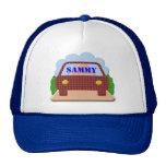Su nombre en ventana-gorra del coche