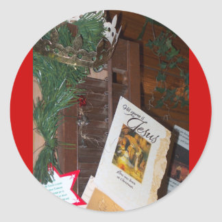Su nombre es productos del navidad de Jesús Pegatina Redonda