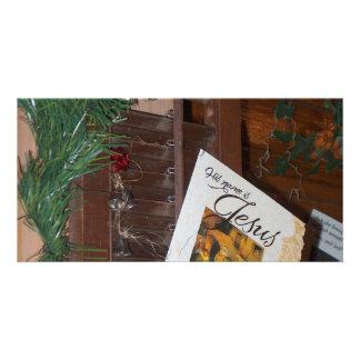 Su nombre es productos del navidad de Jesús Tarjetas Personales Con Fotos