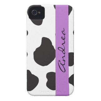 Su nombre - estampado de animales, puntos de la iPhone 4 Case-Mate protectores
