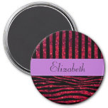 Su nombre - estampado de zebra, brillo - púrpura r