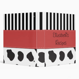 Su nombre - impresión de la vaca, rayas - rojo bla