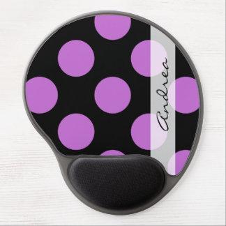 Su nombre - lunares (modelo punteado) - púrpura alfombrilla gel