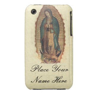 Su nombre nuestra señora de Guadalupe Iphone 3 3G iPhone 3 Case-Mate Cárcasas