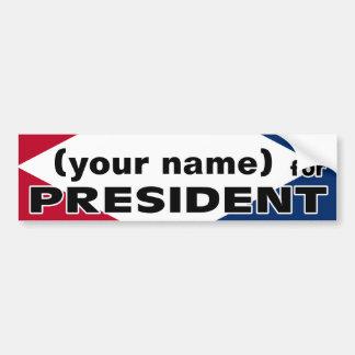 Su nombre para presidente Sticker Pegatina Para Auto