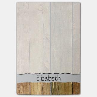 Su nombre - pared del granero hecha de tablones de post-it® notas
