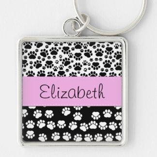 Su nombre - patas del perro rastros - rosa negro