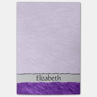 Su nombre - piel mullida (Pelage) - púrpura Nota Post-it