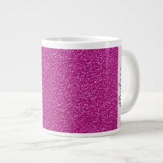 Su nombre - resplandor chispeante del brillo - taza de café gigante
