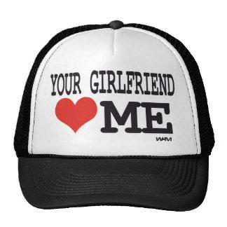 Su novia me ama gorros bordados