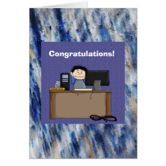 Su nueva tarjeta de trabajo