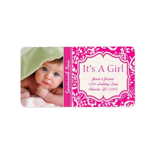 Su nuevo bebé de la foto es un vintage del chica etiqueta de dirección