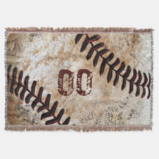Su número del jersey en el béisbol fresco Blanke Manta