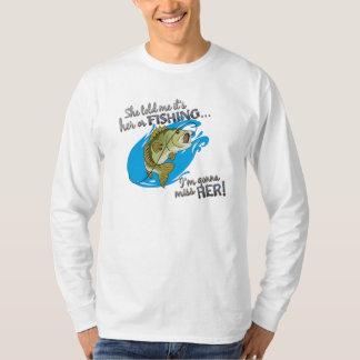 Su o pesca… que va a Srta. Her T-shirt Polera