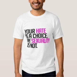 Su odio es una opción remeras