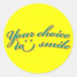 Su opción a sonreír pegatina