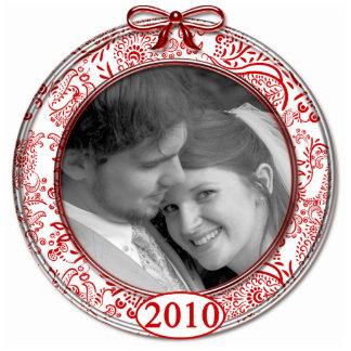 Su ornamento 2010 del navidad de la foto adorno fotoescultura