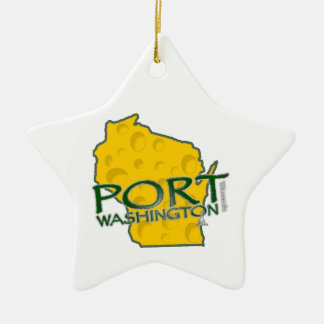 Su ornamento de encargo de la estrella adorno navideño de cerámica en forma de estrella