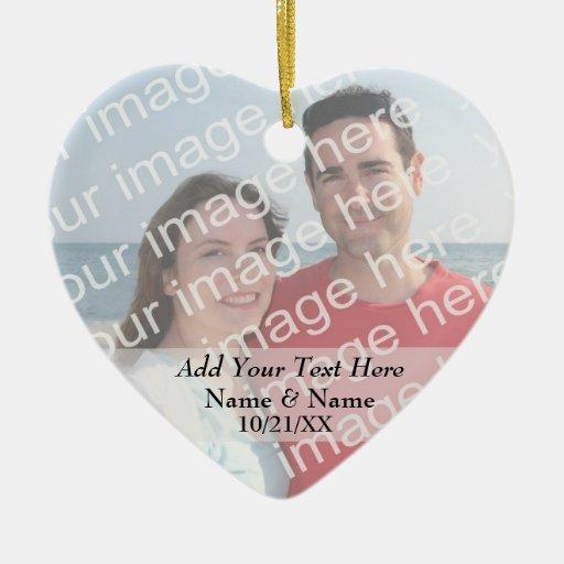 Su ornamento del corazón de la foto y del texto ornatos